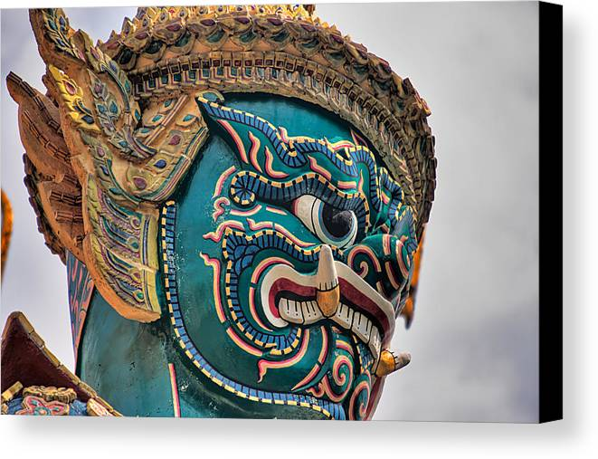 3scape Canvas Print featuring the photograph Khmer Guard by Adam Romanowicz