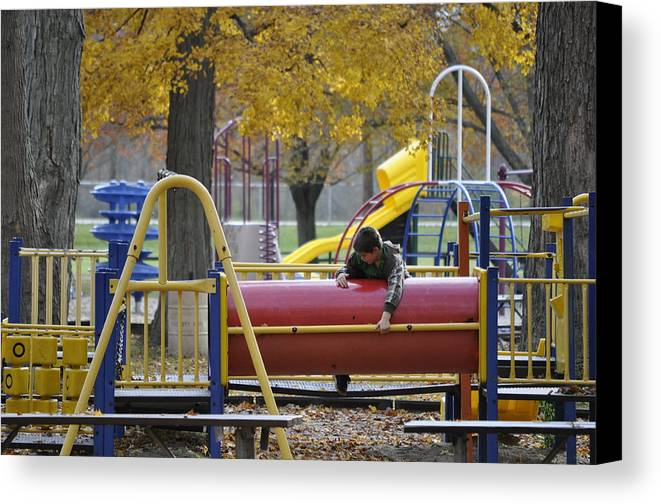 Park Canvas Print featuring the photograph Kid Play by Leto Covington