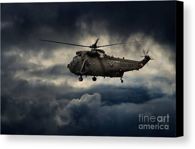 Royal Navy Canvas Print featuring the digital art King Of The Junglies by J Biggadike