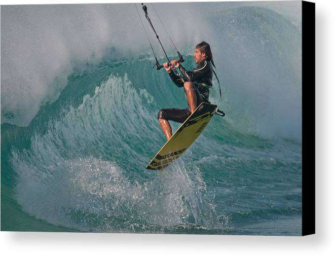 Andalucia Canvas Print featuring the photograph Kiting Los Lances by AJM Photography