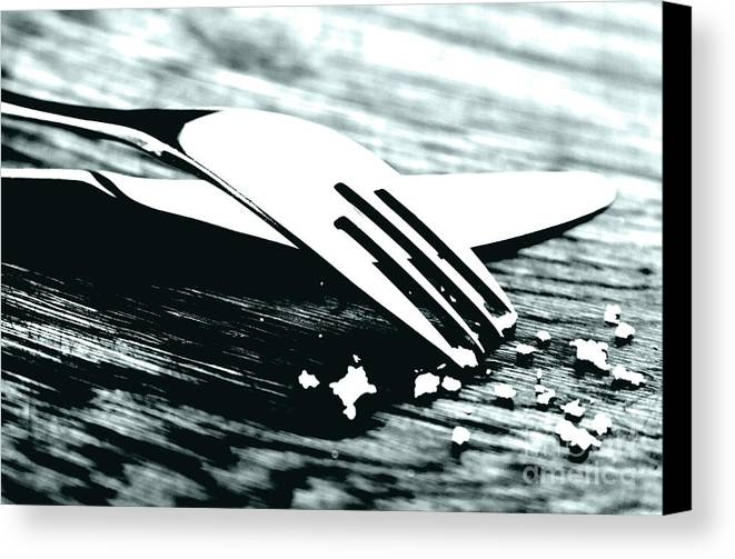 Fork Canvas Print featuring the photograph Knife And Fork by Blink Images