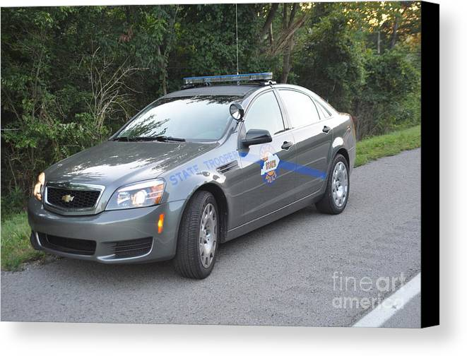 Kentucky State Police Cruiser Canvas Print featuring the photograph Ksp Cruiser by Steven Townsend
