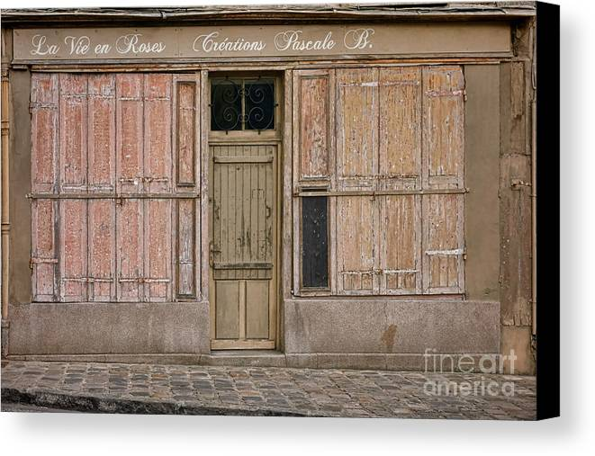 Old Canvas Print featuring the photograph La Vie En Roses Is Closed by Olivier Le Queinec