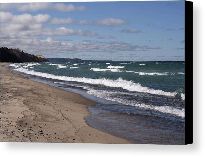 Beach Canvas Print featuring the photograph Lake Superior Shoreline by Debby Richards
