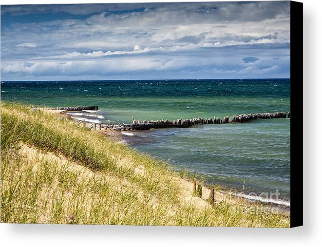 Michigan Canvas Print featuring the photograph Lake Superior by Timothy Hacker