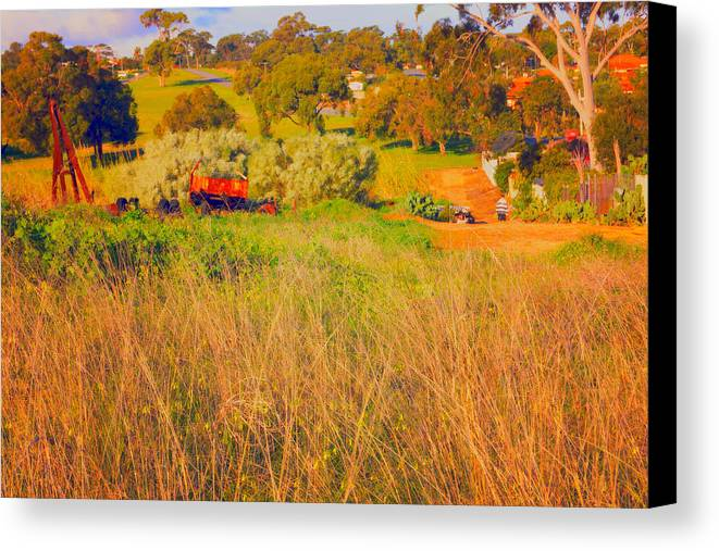 Truck Canvas Print featuring the photograph Landscape by Cassandra Buckley
