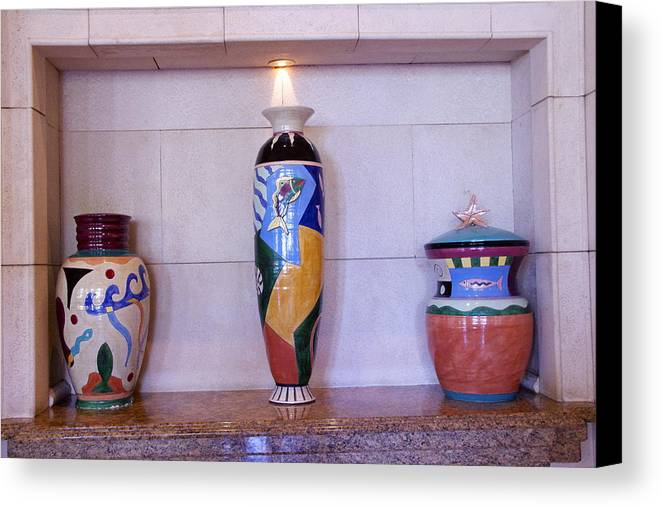 Jars Canvas Print featuring the photograph Large Pottery by Dick Willis