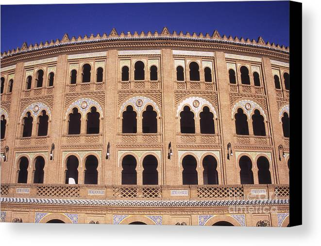 Spain Canvas Print featuring the photograph Las Ventas Bullring Madrid by James Brunker