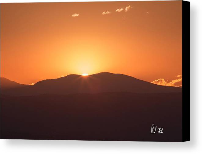 Rocky Mountains Canvas Print featuring the photograph Last Rays by Rick Machle