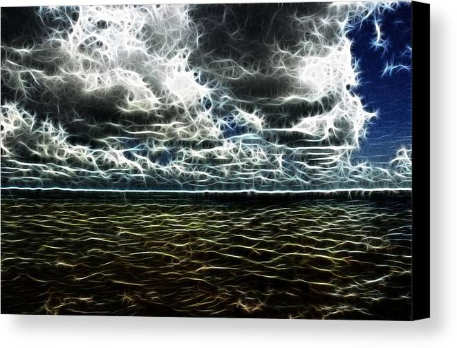 Orosco Photography Canvas Print featuring the photograph Last Winds Of Hurrican Issac by G Adam Orosco