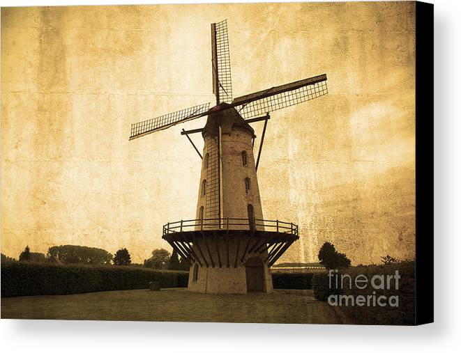 Windmill Canvas Print featuring the photograph Le Moulin Jaune by Rob Hawkins