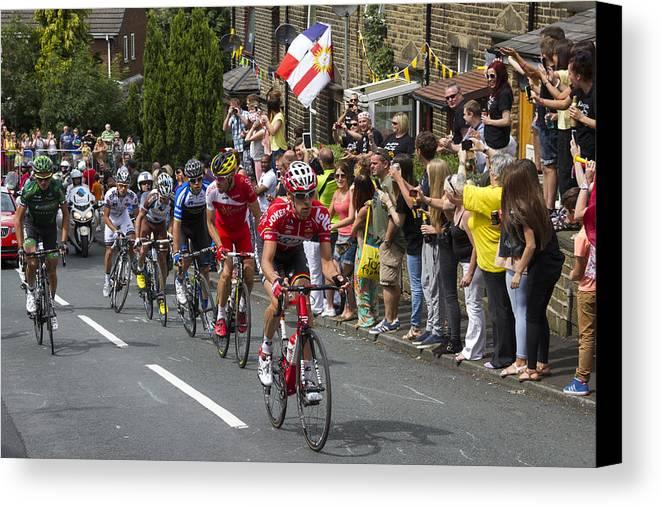 Tour De France Canvas Print featuring the photograph Le Tour De France 2014 - 9 by Chris Smith