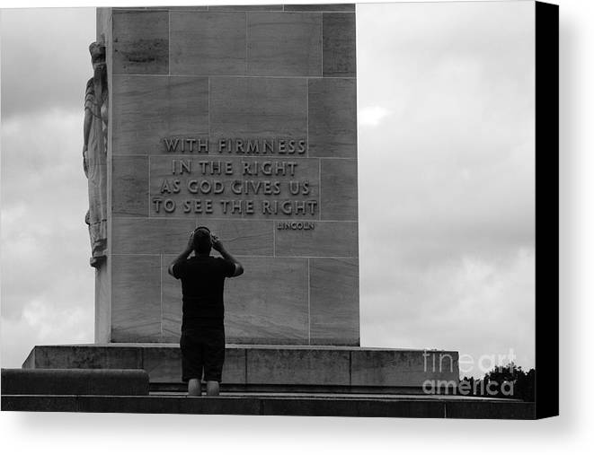 Gettysburg Canvas Print featuring the photograph Learning From Lincoln by James Brunker