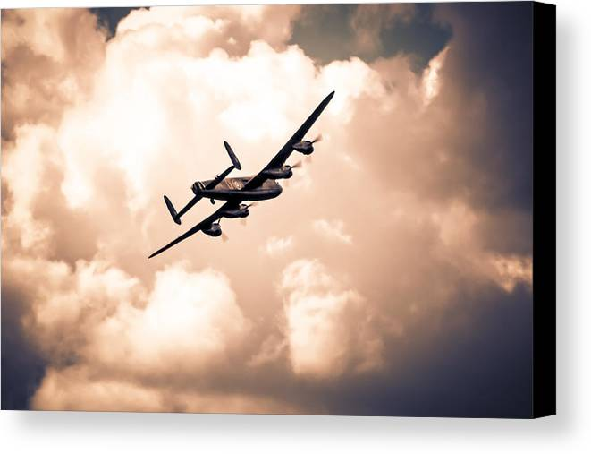 Lancaster Canvas Print featuring the photograph Left To Target by Chris Smith