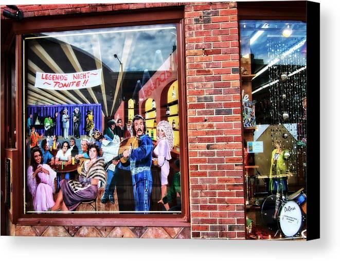 Legends Bar In Downtown Nashville Canvas Print featuring the photograph Legends Bar In Downtown Nashville by Dan Sproul