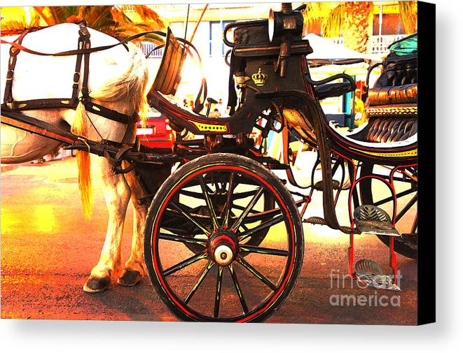 Horse Canvas Print featuring the digital art Let's Go by Christos Dimou
