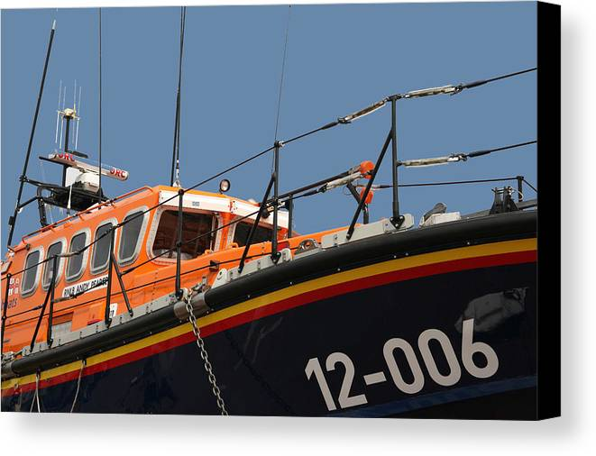 Life Canvas Print featuring the photograph Life Boat by Christopher Rowlands