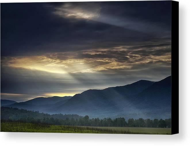 Smoky Canvas Print featuring the photograph Light From The Heavens by Andrew Soundarajan