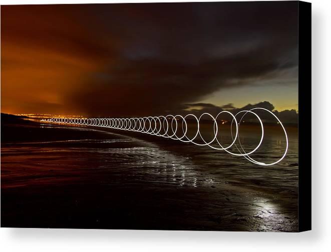 Saunton Sands Canvas Print featuring the photograph Light Play On Saunton Sands by Pete Hemington