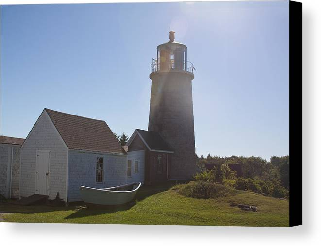 Lighthouse Canvas Print featuring the photograph Lighthouse In The Sun by Jean Macaluso