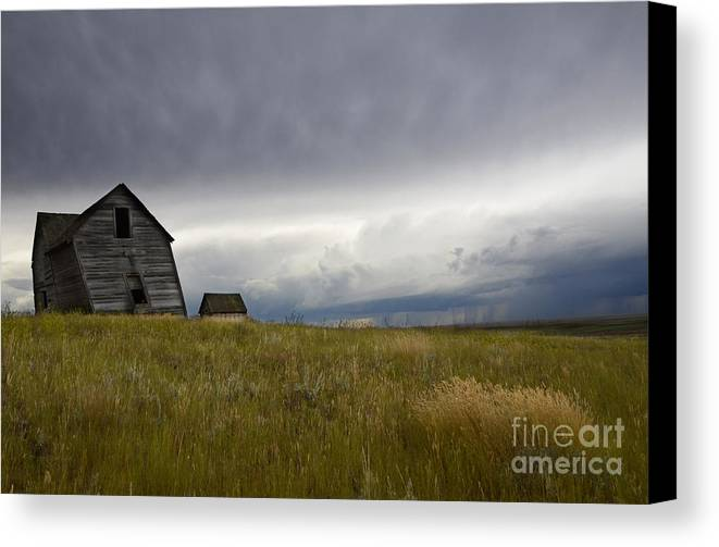 Homestead Canvas Print featuring the photograph Little Remains by Bob Christopher