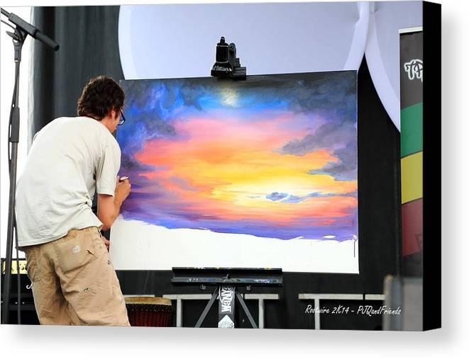 Live Artist Justin Roberts Rw2k14 Canvas Print featuring the photograph Live Artist Justin Roberts Rw2k14 by PJQandFriends Photography