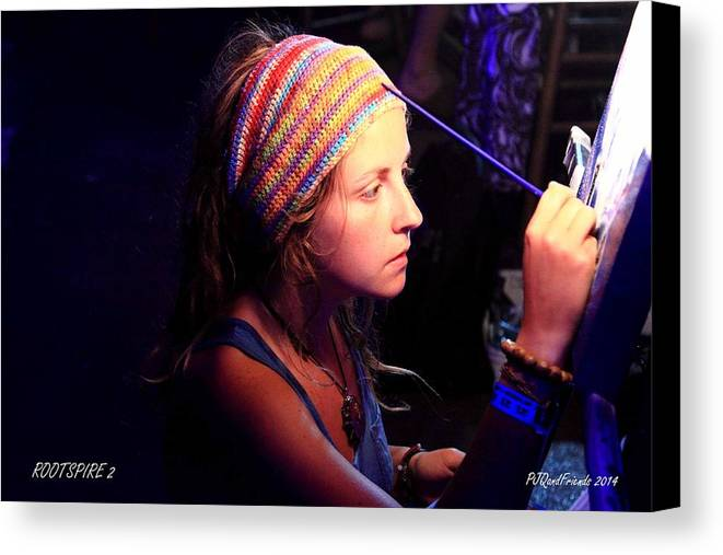 Live Artist Canvas Print featuring the photograph Live Artist by PJQandFriends Photography