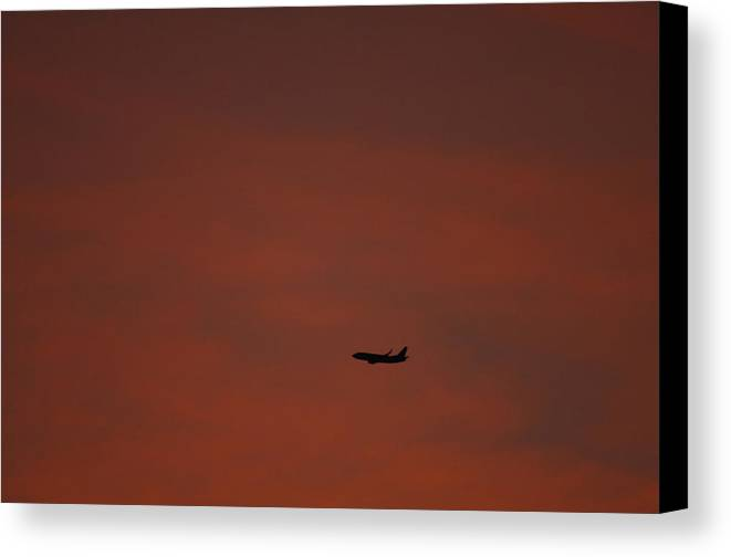 Sunset Canvas Print featuring the photograph Long Hard Goodbye by Donna Blackhall