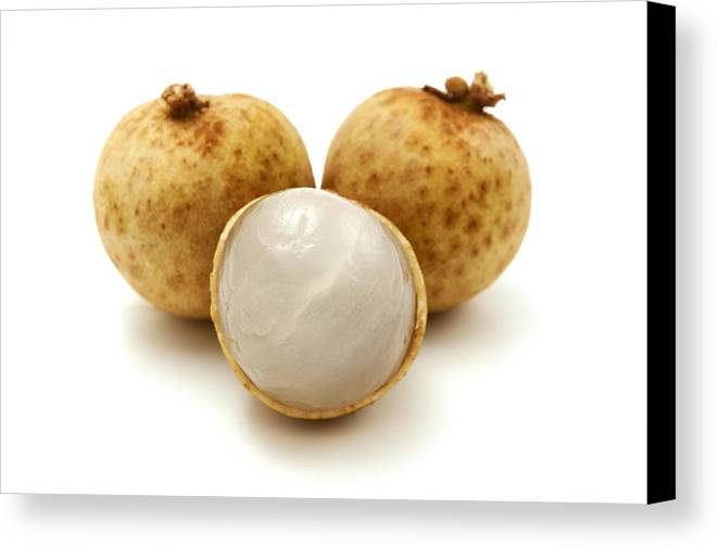 White Background Canvas Print featuring the photograph Longan by Fabrizio Troiani