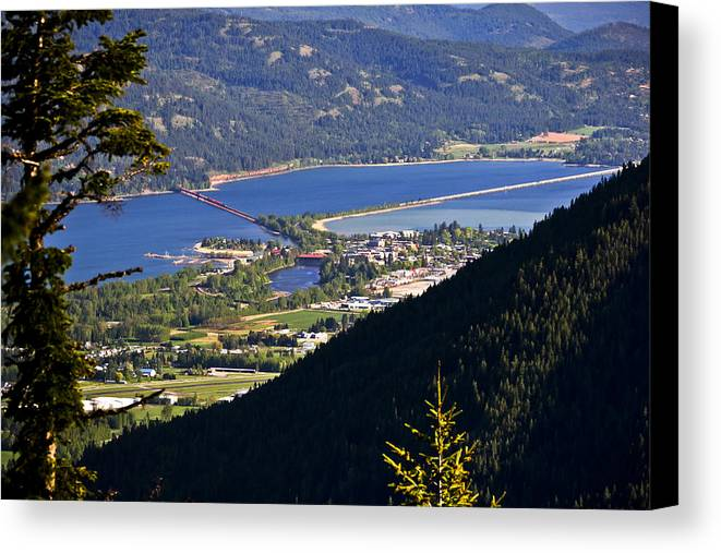 Sandpoint Canvas Print featuring the photograph Looking Down On Sandpoint by Albert Seger