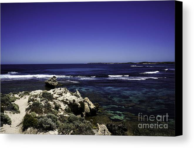 Sea Canvas Print featuring the photograph Lookout by Christine Blazquez