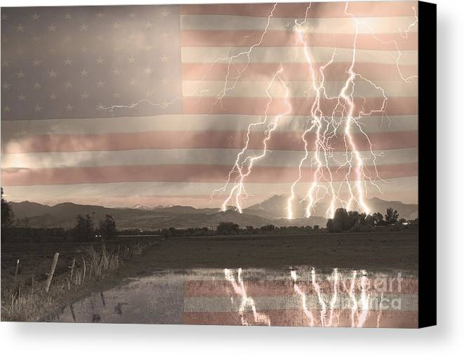 America Canvas Print featuring the photograph Love For Country by James BO Insogna