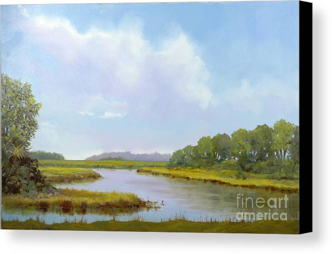 St. Simons Canvas Print featuring the painting Lowcountry Afternoon by Glenn Secrest
