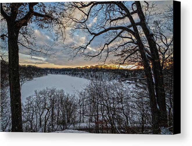 Sunset Canvas Print featuring the photograph Magnetic Sunset by Jim Wilcox