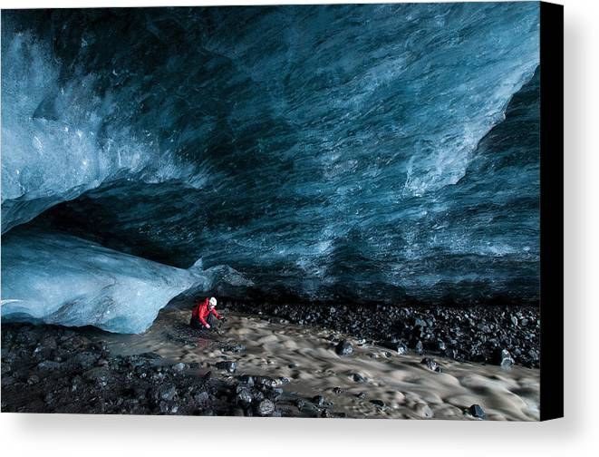 Ice Canvas Print featuring the photograph Majestic by Jim Southwell