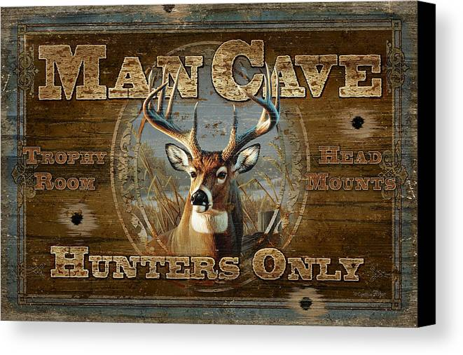 Cynthie Fisher Canvas Print featuring the painting Man Cave Deer by JQ Licensing
