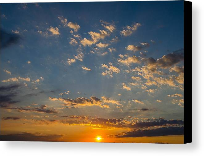 Sunset Canvas Print featuring the photograph Margate Causeway Sunset by Kevin Jarrett
