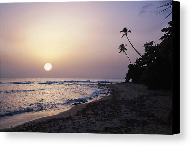 Beach Canvas Print featuring the photograph Marias Beach Sunset Rincon Puerto Rico by George Oze