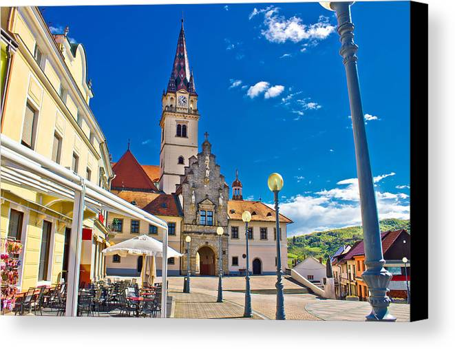 Abbey Canvas Print featuring the photograph Marija Bistrica Marianic Sanctuary In Croatia by Brch Photography