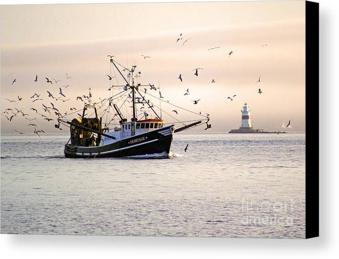 Landscape Canvas Print featuring the photograph Maritime Heritage 2 by Joe Geraci