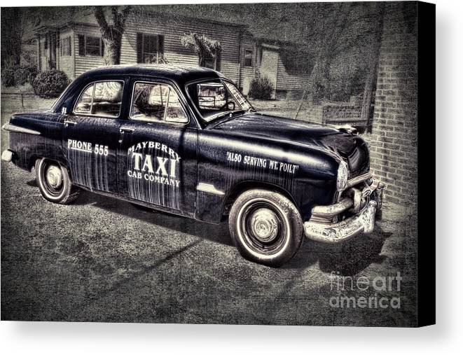 Andy Griffith Canvas Print featuring the photograph Mayberry Taxi by David Arment