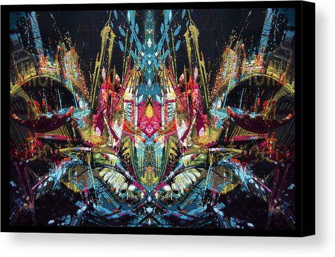 Abstract Canvas Print featuring the digital art Mechanical 572 11 by Zac AlleyWalker Lowing