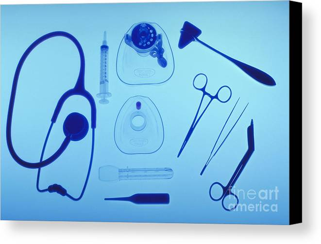 Health Canvas Print featuring the photograph Medical Equipment by Blair Seitz