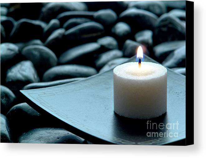 Candle Canvas Print featuring the photograph Meditation by Olivier Le Queinec