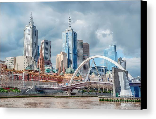 Melbourne Canvas Print featuring the photograph Melbourne Australia by Ray Warren
