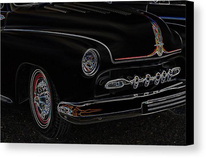 1950 Merc Canvas Print featuring the photograph Mercury Glow by Steve McKinzie
