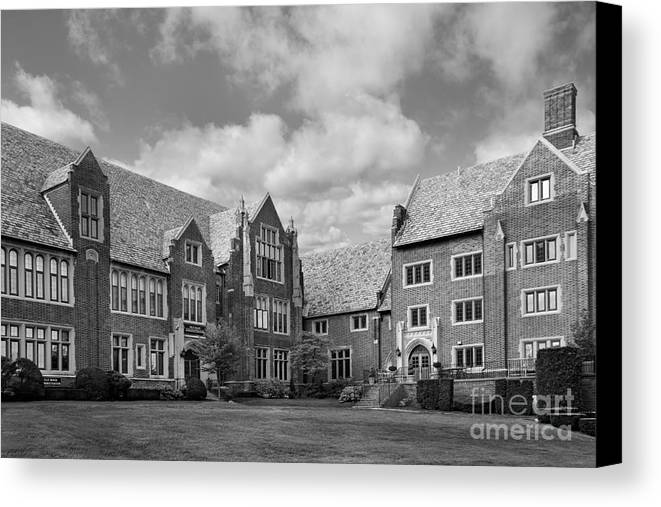 Mercyhurst Canvas Print featuring the photograph Mercyhurst University Old Main by University Icons