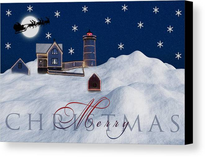 Merry Christmas Canvas Print featuring the photograph Merry Christmas by Susan Candelario