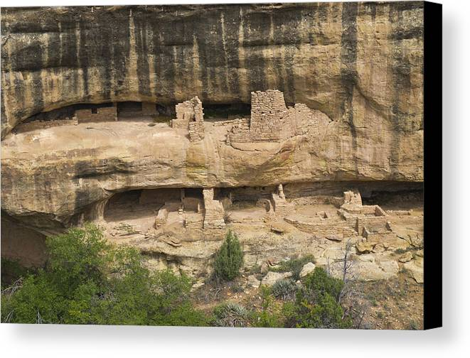 Strutures Canvas Print featuring the photograph Mesa Verde National Park - 7906 by Jerry Owens