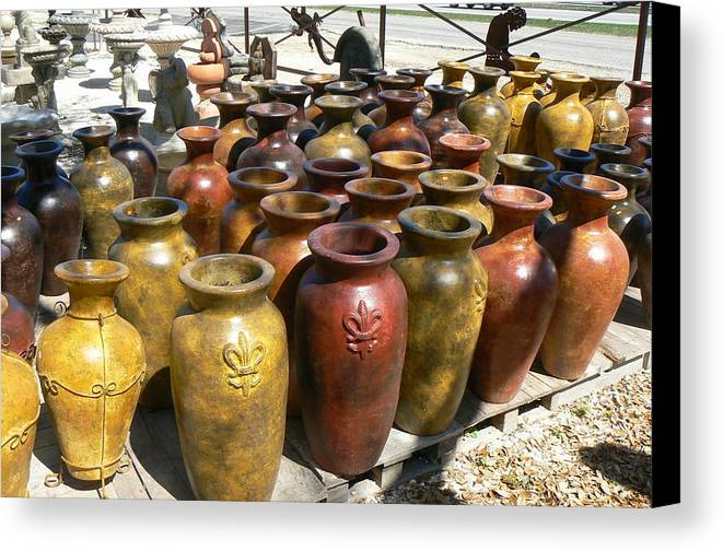 Pots Canvas Print featuring the photograph Mexican Pots I by Scott Alcorn